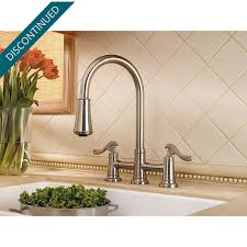 brushed nickel ashfield 2 handle pull down kitchen faucet gt531