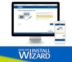 thermostat with easy install wizard