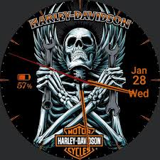 harley davidson skull wings faces for smart watches