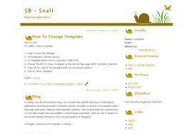cute snail simple blogger template blog layouts for blogspot