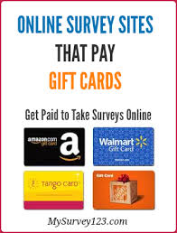 survey for gift cards best online survey that pay store gift cards