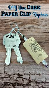 Wine Glass Keychain Have A Paper Clip And Wine Cork Kicking Around Check Out This