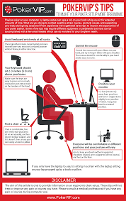 make your poker setup more ergonomic infographic pokervip
