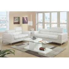 White Leather Living Room Furniture White Living Room Sets You Ll Wayfair