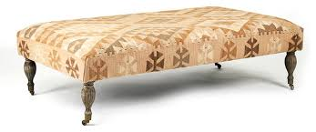 coffee table kilim ottoman coffee table the top features a grid