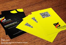 black and yellow business card design by cap bassam on deviantart