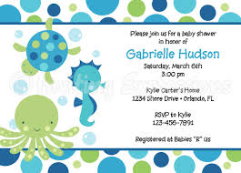sea themed baby shower invitations theruntime com