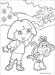 dora 80 dora the explorer printable coloring pages for kids
