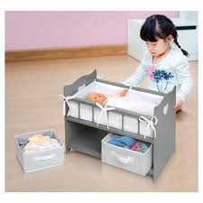 badger basket doll crib with cabinet badger basket doll crib with two baskets executive gray target