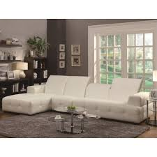 coaster darby contemporary sectional sofa with wide arms coaster