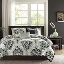 Black And White Bed Black And White Comforters For Full Beds Full Size Of With Stairs