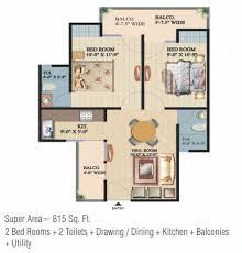 2bhk floor plans floor plan of ajnara integrity crossing republic ajnara india