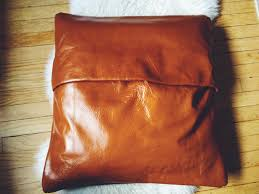 Cushion Covers Without Zips Diy Leather Pillow