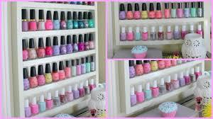 diy wood nail polish rack youtube