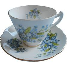forget me nots english bone china cup saucer mismatch regency