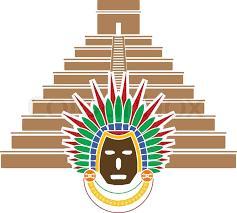 mayan pyramid and mask stock vector colourbox