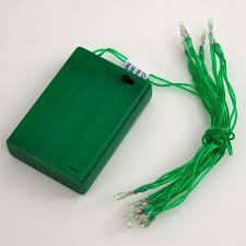 Battery Operated Light Strings by Tiny Led Battery Operated Stringlight Strand 10 Green Bulbs