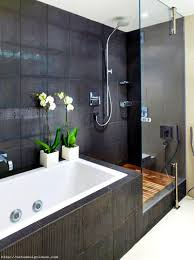 lovely bathroom layout with shower and tub for your home