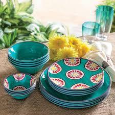 melamine plates set vintage mix picnic dinner plate set of 4