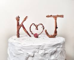 rustic monogram cake topper 10 wedding cake toppers unique ideas