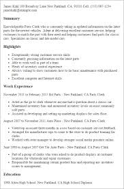service clerk sample resume professional parts clerk templates to showcase your talent