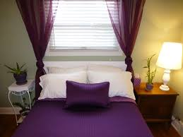 color designs for bedrooms with romantic purple curtain ideas for