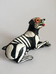 day of the dead rottweiler dog sugar skull pet memorial dia de