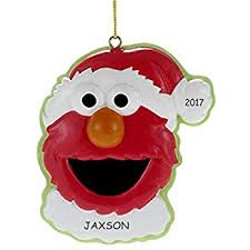 elmo ornament with free personalization