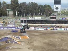 monster truck race track a day with the family and some trucks getting ready for saturday