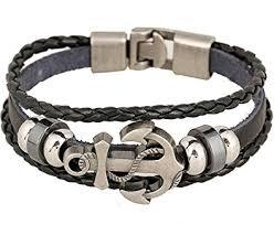 anchor bracelet men images Rock multilayer handmade leather nautical anchor jpg