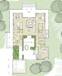 courtyard floor plans floor plan style the with house apartment center one