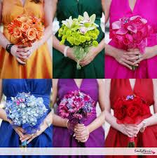 purple and orange wedding ideas i want emerald sapphire dark pink plum u0026 a yellow gold bridesmaids