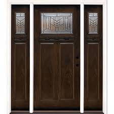 Feather River Exterior Doors Feather River Doors 63 5 In X81 625in Patina Craftsman