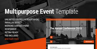 event conference u0026 event html5 landing page by magethemes