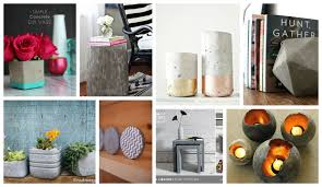 Stylish Home Decor Cool And Easy Diy Concrete Projects For Stylish Home Decor The