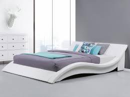 Schlafzimmer Komplett Lederbett Lederbett Weiss Lattenrost 180 X 200 Cm Vichy Beliani De