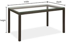 depth and table parsons custom dining table modern custom dining tables modern
