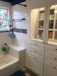 Vintage Bathroom Cabinet Houston Bathroom Remodeling Contractor Montrose Vintage