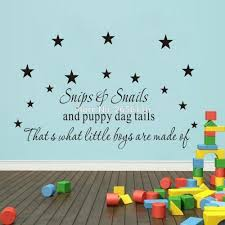 popular boys nursery rooms buy cheap lots from snips snails and puppy dog tails wall decal that what little boys are made quotes
