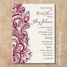 mehndi invitation wording sles boho merlot burgundy bridal shower invitation garnet paisley