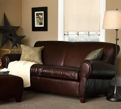 Leather Sofa Loveseat by Manhattan Leather Sofa Pottery Barn