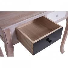 bureau console 2 tiroirs mobili table bureau console 2 tiroirs bois blanc noir