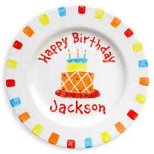 personalized birthday plate birthday cake plate boy personalized kids plates stork store