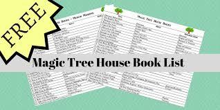 Magic Treehouse - freebie magic tree house book list centered at home