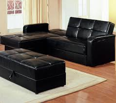 Sectional Sofa Bed With Storage Furniture Black Letaher Convertible Sofa With Storage Placed On