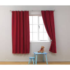 good looking accessories for window treatment decoration using red