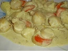 cuisiner st jacques recette noix de jacques à la crème au curry 750g