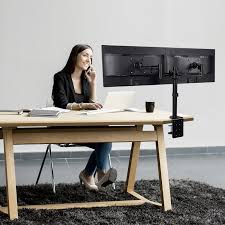 Monitor Stands For Desks Loctek Store Loctek D2d Full Motion Dual Arm Desk Monitor Mount