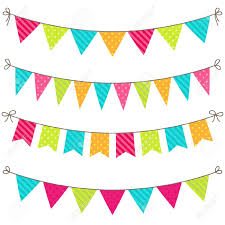 Pretty Bunting Flags Bright Clipart Bunting Pencil And In Color Bright Clipart Bunting