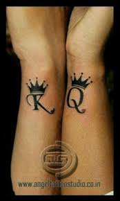 tattoo couple king and queen 50 king and queen tattoos for couples cuple pinterest queen